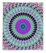 Spinning Colors Mandala Fleece Blanket