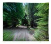 Spinning Through The Woods Fleece Blanket