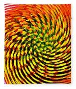Spinning Watercolor  Fleece Blanket