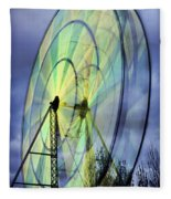 Spinning Wheel Fleece Blanket