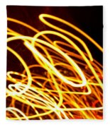 Spiral Light Among Dwellers About The City 2 Fleece Blanket