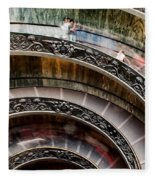 Spiral Staircase No4 Fleece Blanket