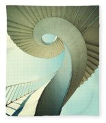 Spiral Stairs In Pastel Tones Fleece Blanket