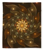 Spiral Wings Fleece Blanket