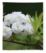 Spirea Blossom Fleece Blanket