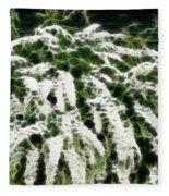 Spirea Expressive Brushstrokes Fleece Blanket