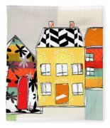 Spirit House Row Fleece Blanket