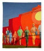 Spirit Of Lancaster South Carolina Fleece Blanket
