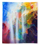 Spirit Of Life - Abstract 5 Fleece Blanket