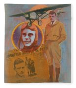 Lindbergh, Spirit Of St. Louis Fleece Blanket