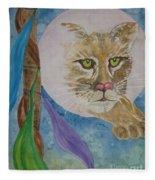 Spirit Of The Mountain Lion Fleece Blanket