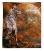 Spirit Of The Wolf Fleece Blanket