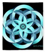 Spirit Of Water 1 - Blue Fleece Blanket