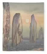 Spirits Of Callanish Isle Of Lewis Fleece Blanket