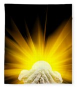 Spiritual Light In Cupped Hands Fleece Blanket
