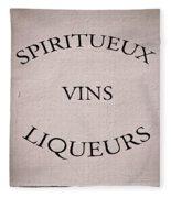 Spiritueux Vins Liqueurs Fleece Blanket