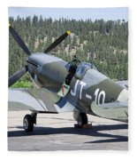 Spitfire On Takeoff Standby Fleece Blanket