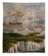 Spitfire's Over Dover Fleece Blanket