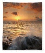 Splash Of Paradise Fleece Blanket