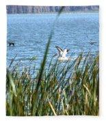 Splashing In The Lake Fleece Blanket