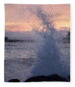 Splashy Sunrise Fleece Blanket