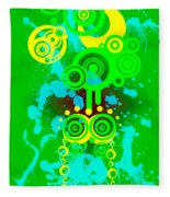 Splattered Series 3 Fleece Blanket