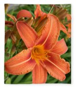 Splendid Day Lily Fleece Blanket