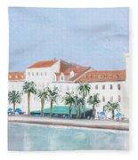 Split Croatia Adriatic Coast Fleece Blanket