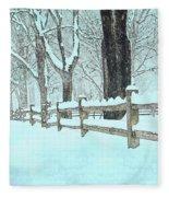 Split Rail Blues Fleece Blanket