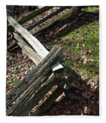 Split Rail Fence Fleece Blanket