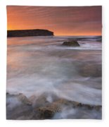 Splitting The Tides Fleece Blanket