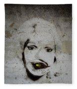 Spoiled Portrait In The Wall Fleece Blanket