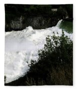 Spokane Falls In The Spring Fleece Blanket