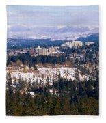 Spokane View 2-4-14 Fleece Blanket