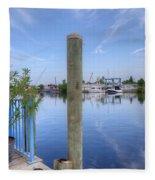 Sponge Boat Docks 2  Fleece Blanket