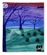 Spooky Night Fleece Blanket