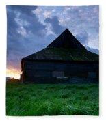 Spooky Shadow Barn Fleece Blanket