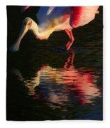 Spoonbill Island Reflection Fleece Blanket