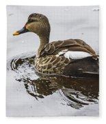 Spot-billed Duck  Fleece Blanket