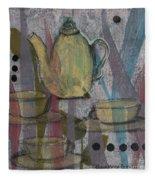 Spot Of Tea Fleece Blanket