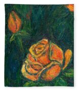 Spotlight Rose Fleece Blanket