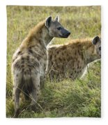 Spotted Hyaena Fleece Blanket
