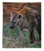 Spotted Hyena Fleece Blanket