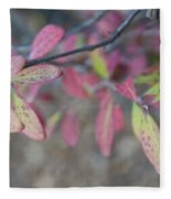 Spotted Leaves Fleece Blanket