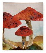 Spotted Mushrooms Fleece Blanket