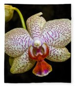 Spotted Orchid Fleece Blanket