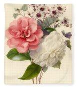 Spray Of Three Flowers Fleece Blanket