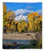Spread Creek Grand Teton National Park Fleece Blanket