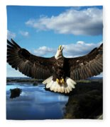 Spread Eagle  Mississippi River Fleece Blanket