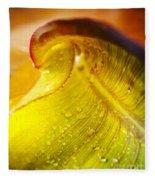 Sprial Leaf Fleece Blanket